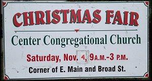 Center Congregation Church Christmas Fair