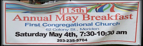 First Congregational Annual May Breakfast