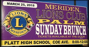 Meriden Lions Club Palm Sunday Brunch