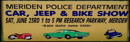 Meriden Police Dept Car, Bike, and Jeep Show