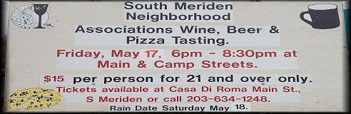 South Meriden Neighborhood Associations Wine, Beer, and Pizza Tasting