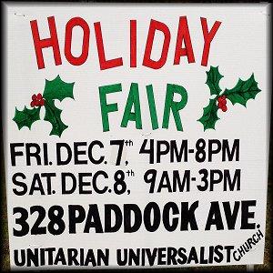Unitarian Universalist Church Holiday Fair